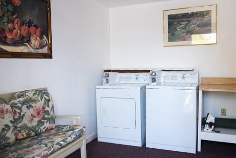 guest laundry at motel